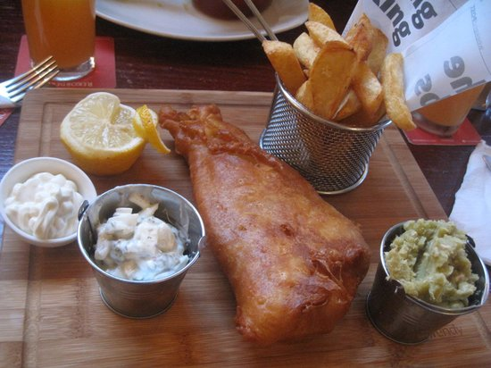 Kings Head Pub : fish and chips