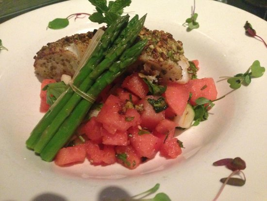 Desert Bistro: Baramundi with watermelon salad