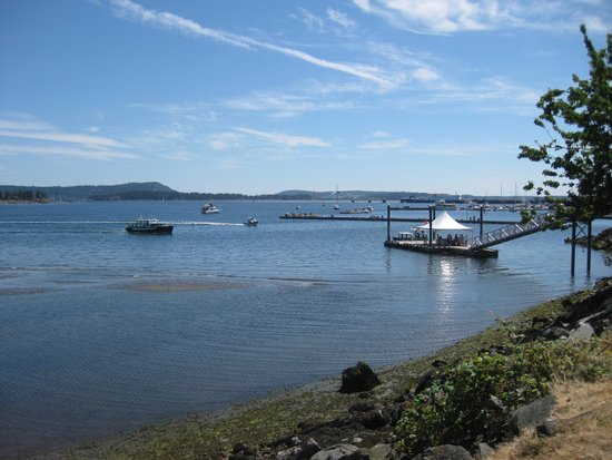 Newcastle Island : Dock in foreground is where the ferry leaves Nanaimo's Sutton Maffeo Park.