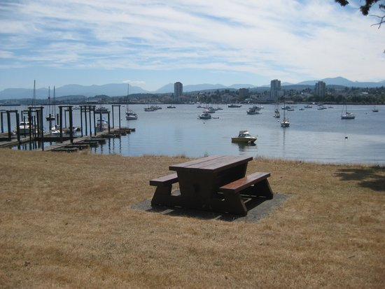 Views of Nanaimo from the island.