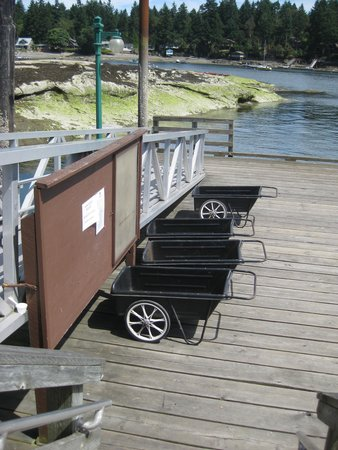 Nanaimo, Canada: This is how you get your stuff from the dock to your campsite.