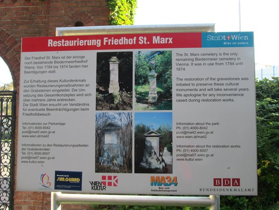 Cemetery of St. Marx (Friedhof St. Marx): 案内