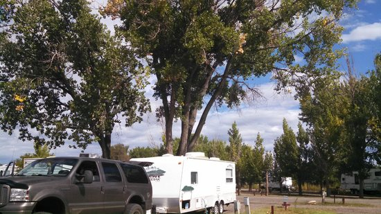 Shady Acres RV Park and Campground : Ours and a friend's camper.  Got to face each other!