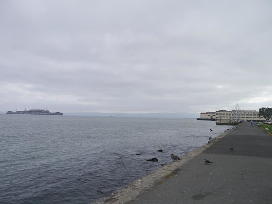Marina Green: View looking out to Alcatraz Island
