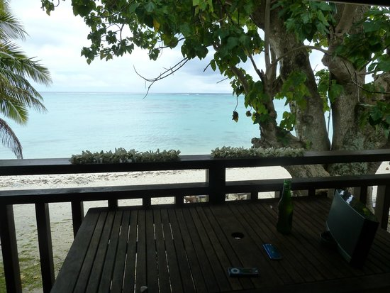 Aitutaki Beach Villas: View from Villa 2 patio