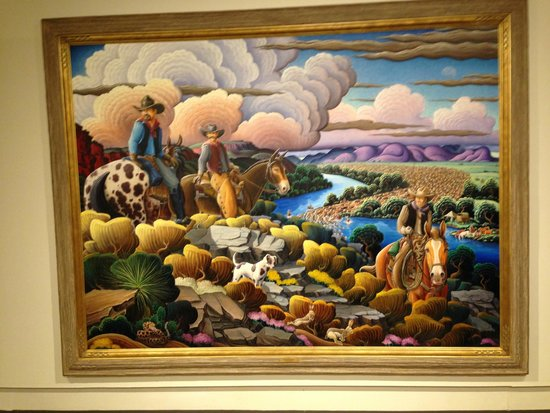 Roswell Museum & Art Center: A Painting in the Museum that depicts New Mexico