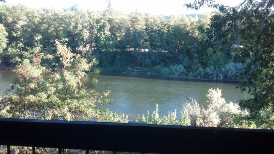 View from our room at Riverside Inn