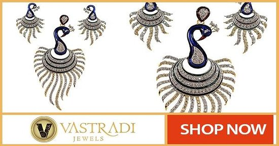 Peacock Pendant Sets by Vastradi Jewels