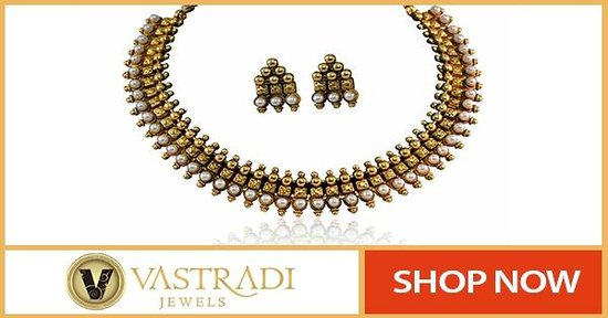 Polki Earrings Necklace Sets by Vastradi Jewels