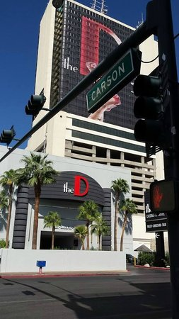 The D Casino : The Front entrance.