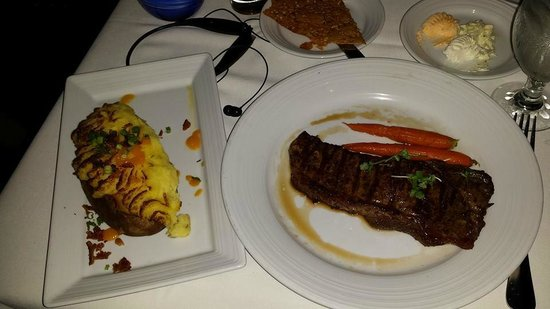 Top of the World: NY Strip....succulent indeed.