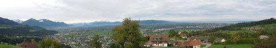 Bildstein, Österreich: View over mountains & Lake Bregenz - Hotel Traube Oct 14 2013