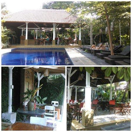Nyima Budget Inn: B'fast spot, pool