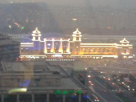 Beijing International Hotel: View from the revolving restaurant/bar of Beijing station