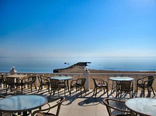 Long Beach Resort: View from hotel veranda.