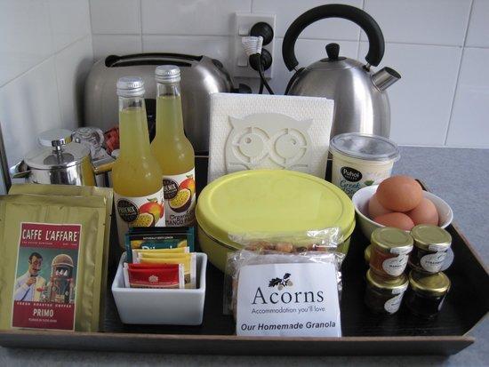 Acorns Wellington Bed and Breakfast: Breakfast provisions