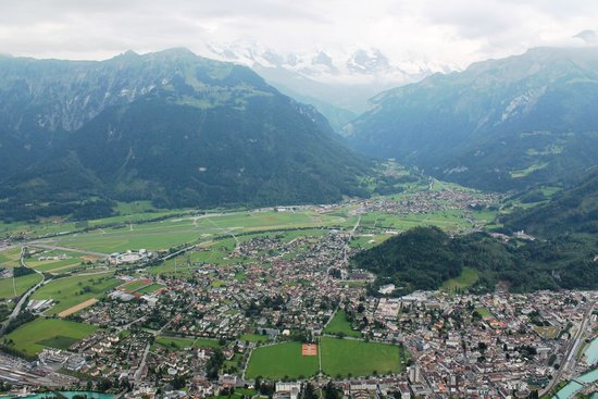 Balmers Tent Village: View of the town from Harder Kulm