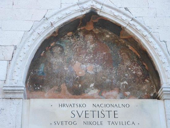 Crkva i samostan sv. Frane: Sibenico, la lunetta della chiesa di S. Francesco