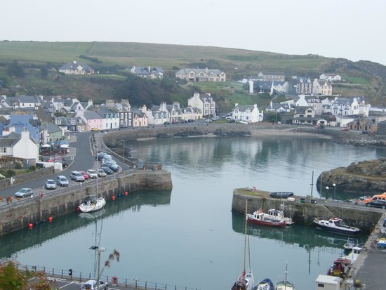 The Portpatrick Hotel: view from our room 117