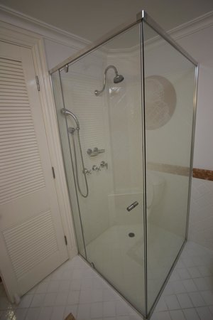 Shower recess - taken with wide-angle lens