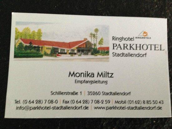 Ringhotel Parkhotel Stadtallendorf: biglietto da visita