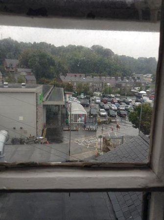 Crown Hotel: view from bathroom