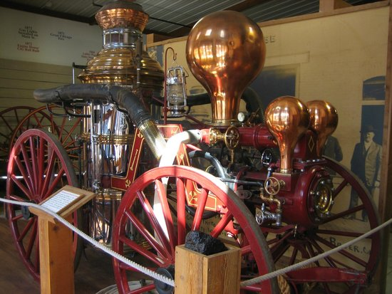 Nebraska City, NE: 1884 Button Steam-Powered fire engine.