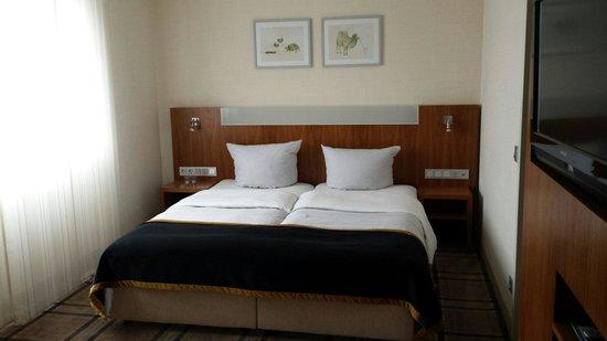Parkhotel Oberhausen: Slaapkamer. Prima in orde!