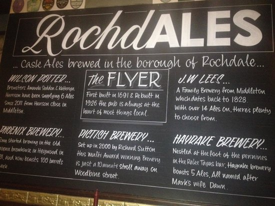The Flying Horse Hotel: RochdALES,celebrating Rochdale's brewing heritage.