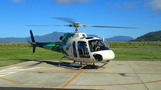 Safari Helicopters: helicpoter taking off