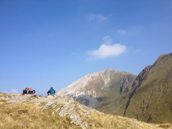 Lochaber Guides - Private Day Tours: Taking a break before heading to the top of Stob Ban.
