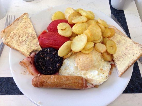 Jesters Diner: The big boy breakfast (a bit expensive at £6.99 when a Toby's breakfast is £3.99 all you can eat