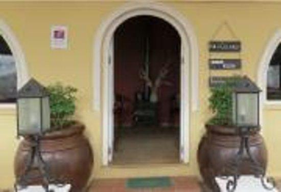 The reception entrance to Wild Clover farm.