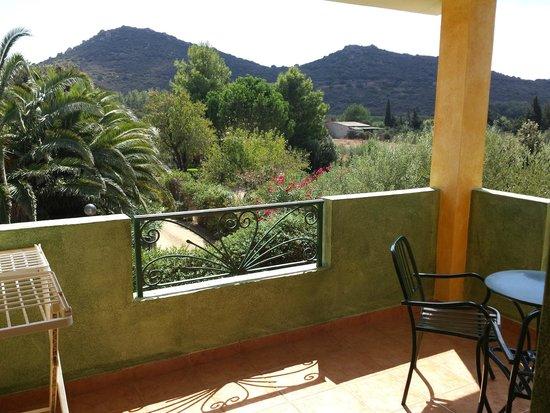 هوتل لو زاجار: Dal balcone si vedono le colline e il verde