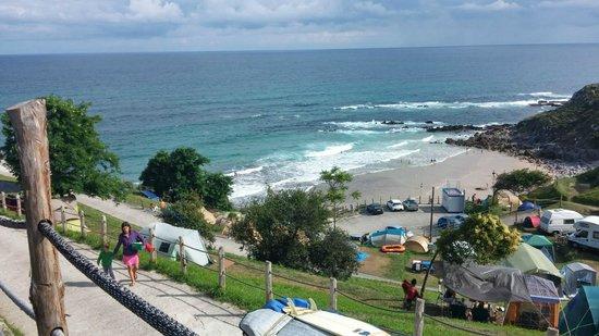 Camping La Paz: Vista de la playa