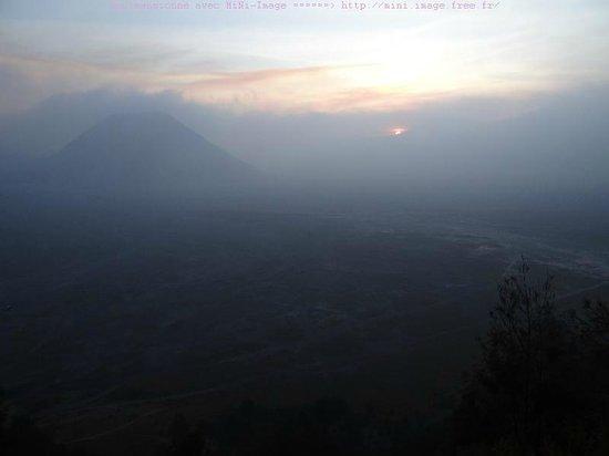 Lava View Lodge: la même vue au soir