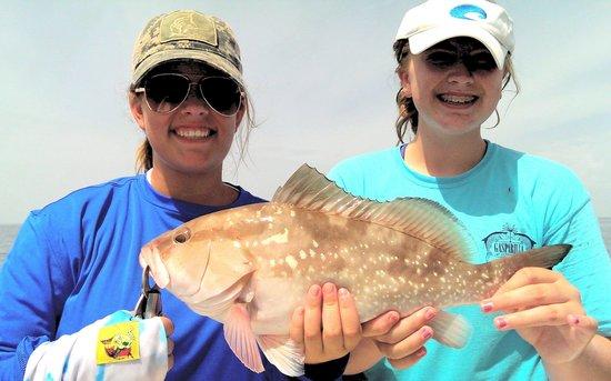 Florida Inshore Xtream Charters: Emily & Jordan with Grouper