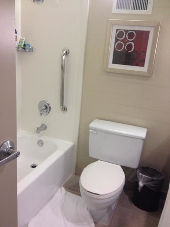 Crowne Plaza Foster City - San Mateo: Tub and toilet