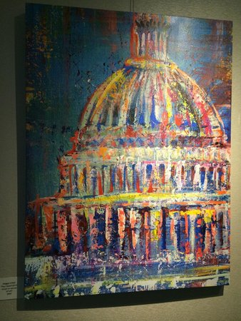 Renaissance Washington, DC Dupont Circle Hotel: Lobby artwork from local artist