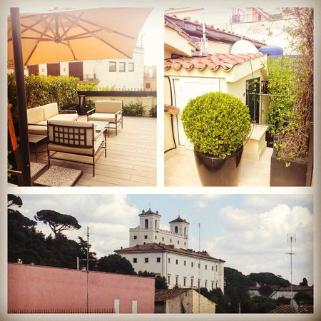 Babuino 181: PRIVATE ROOF TERRACE VIEW