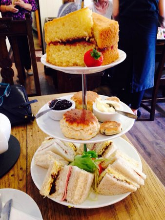 Jaspers Tea Rooms: Our afternoon tea minus cakes that are on other pics on here.