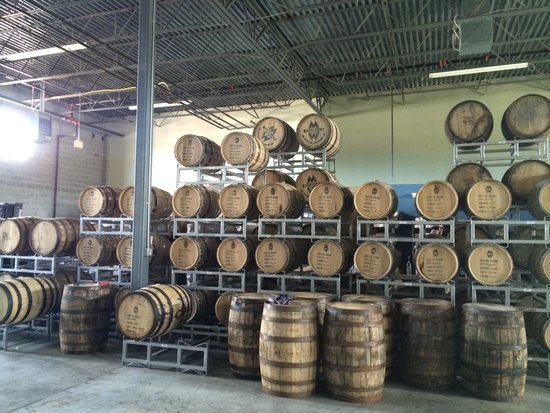 Pottstown, PA: Whiskey aging in barrels