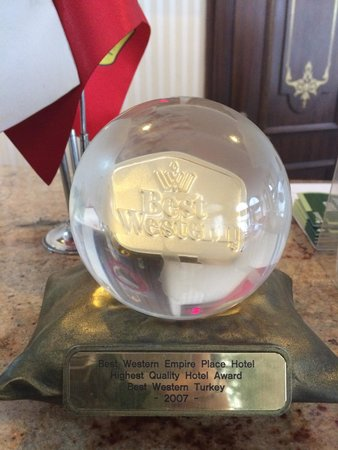 BEST WESTERN Empire Palace : One of the hotels many awards