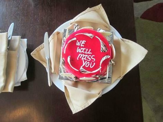 Four Points by Sheraton Ahmedabad: Farewell cake!