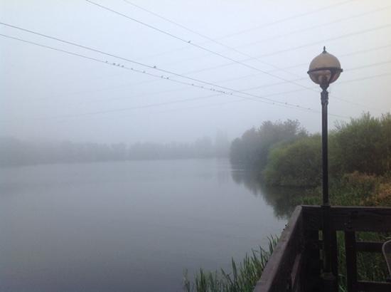 Wyboston Lakes Hotel: surrounding in foggy weather