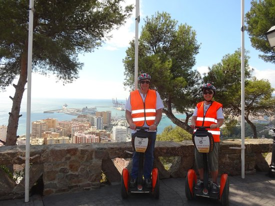 Segway Malaga Tours: Top of the hill