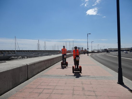 Segway Malaga Tours: Along the port