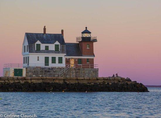 Bufflehead Sailing Charters: Rockland Lighthouse at Sunset