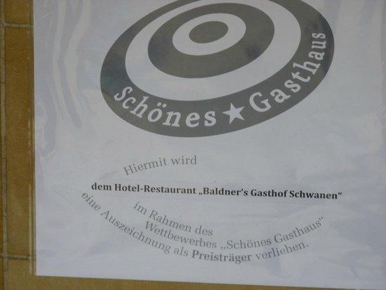 Baldner's Gasthof Schwanen: Diese Gastlichkeit haben wir nicht gefunden