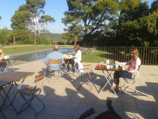 Le Mas del Sol : The Terrace for breakfast